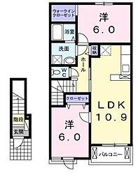 ボニートC 大東[2階]の間取り