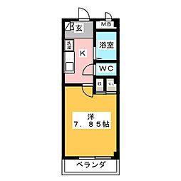 メルベーユHAJIII[2階]の間取り
