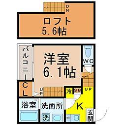グランビル上小田井[1階]の間取り