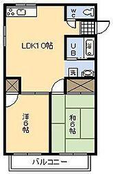 TAKASAGO加納A棟[203号室]の間取り