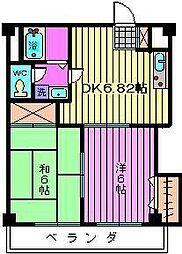 インフォートマンション[405号室]の間取り