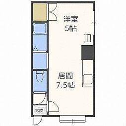北海道札幌市白石区本通14丁目南の賃貸アパートの間取り