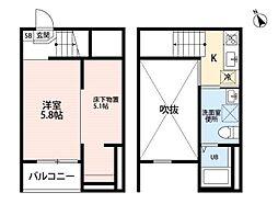 clarte内田橋II[1階]の間取り