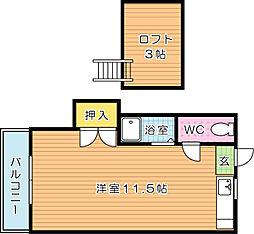 レガーロ黒崎I[2階]の間取り
