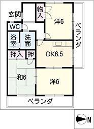 寺山パークハイツ[1階]の間取り