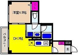 JR東海道・山陽本線 摂津本山駅 徒歩11分の賃貸マンション 3階1LDKの間取り