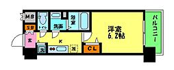 Osaka Metro御堂筋線 西中島南方駅 徒歩3分の賃貸マンション 3階1Kの間取り