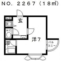 ピースフルハイツ[402号室号室]の間取り