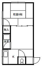 高瀬マンション4階Fの間取り画像
