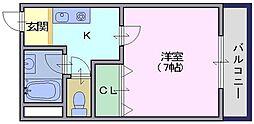 ヌーベル辻村[202号室]の間取り