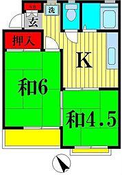 エステート・20[2階]の間取り