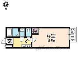 京阪本線 龍谷大前深草駅 徒歩10分の賃貸マンション 3階1Kの間取り