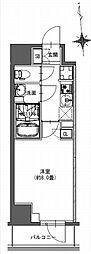 都営新宿線 馬喰横山駅 徒歩9分の賃貸マンション 8階1Kの間取り
