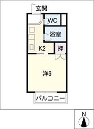 サープラスT&M[2階]の間取り