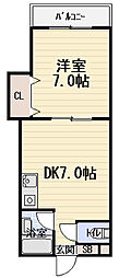 第2八紘マンション[2階]の間取り