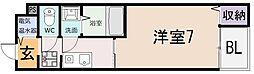 シェモワ八尾[105号室]の間取り