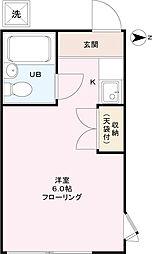 タウンハイツ[2階]の間取り