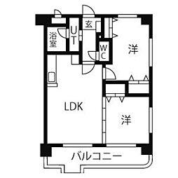 愛知県名古屋市名東区梅森坂3丁目の賃貸マンションの間取り