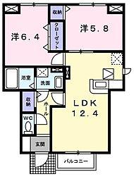 グランボナール2[1階]の間取り