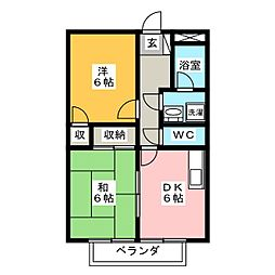 サープラスIIMIYABI[1階]の間取り