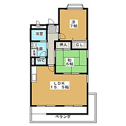 ベルズ有松B棟[1階]の間取り
