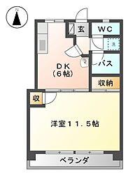桜通コーポ[5階]の間取り