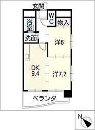 メゾンボナール[6階]の間取り
