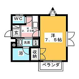 CRANE・TORTOISE(クレイントータス)[2階]の間取り