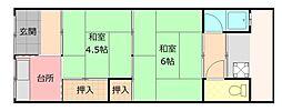 [一戸建] 大阪府八尾市緑ヶ丘4丁目 の賃貸【大阪府/八尾市】の間取り