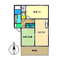 エピナール A棟[1階]の間取り