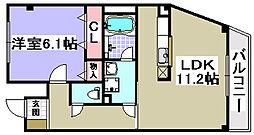 サンキューマンション[101号室]の間取り
