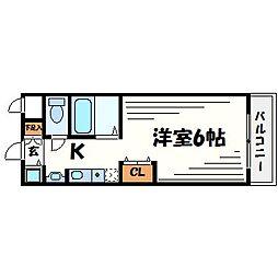 ユニテソリステ津門川[1階]の間取り