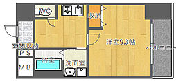 北大阪急行電鉄 桃山台駅 徒歩8分の賃貸マンション 7階1Kの間取り