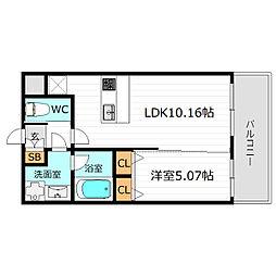 Osaka Metro長堀鶴見緑地線 蒲生四丁目駅 徒歩3分の賃貸マンション 3階1LDKの間取り