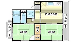 [テラスハウス] 兵庫県たつの市龍野町日山 の賃貸【/】の間取り