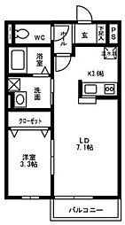ガーデンフィル花畑A棟[103号室]の間取り