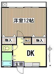 松原マンション[202号室]の間取り