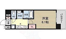 ララプレイス新大阪シエスタ 4階1Kの間取り