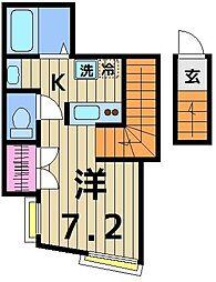 hacco house[203号室]の間取り