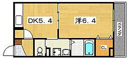 Y's place 1階1Kの間取り