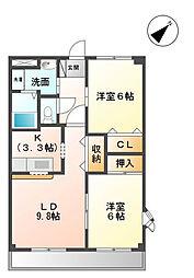 リバーホーム桜作[2階]の間取り
