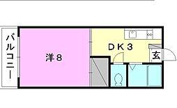 北尾マンション[202 号室号室]の間取り