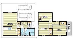 [一戸建] 兵庫県姫路市飾磨区西浜町1丁目 の賃貸【/】の間取り