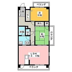リベルテONE[2階]の間取り