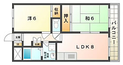 富士雁屋西マンション[3階]の間取り