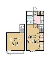 ブルーメ花畑29[2階]の間取り