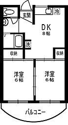 サシダロイヤルハイツ[1階]の間取り