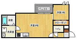 広島県広島市東区矢賀新町2丁目の賃貸アパートの間取り