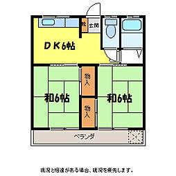 上田ハイツ[1階]の間取り