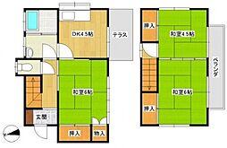 [一戸建] 千葉県松戸市新松戸6丁目 の賃貸【/】の間取り